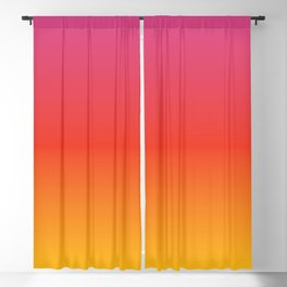 pink red orange yellow evening sky gradient Blackout Curtain