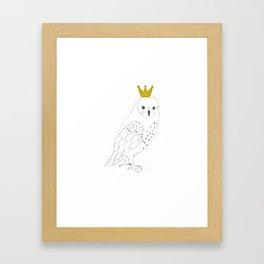 A king Owl, nursery decor Framed Art Print