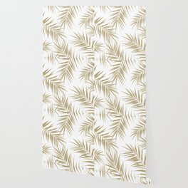 Palm Leaves Cali Finesse #2 #gold #tropical #decor #art #society6 Wallpaper