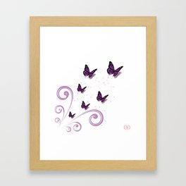 Blooming Butterflies Framed Art Print