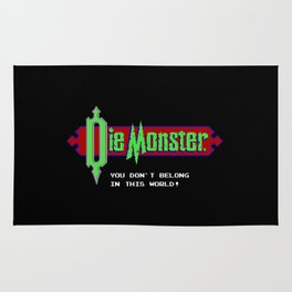 Castlevania - Die Monster. You Don't Belong In This World! Rug