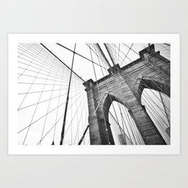 Lines of Brooklyn New York Art Print