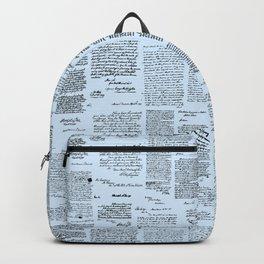 George Washington's Letters // Blue Backpack