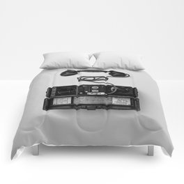Antique Phone (Black and White) Comforters