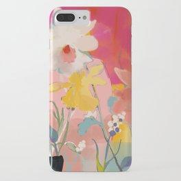 blooming abstract pink iPhone Case