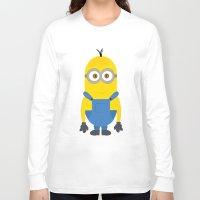 minion Long Sleeve T-shirts featuring minion by fatimakhaled95