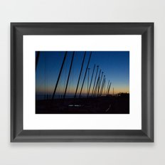 Boats in The Night Framed Art Print