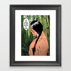 morning rain Framed Art Print