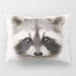 Baby Raccoon, Baby Animals Art Print By Synplus Pillow Sham