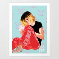 johannathemad Art Prints featuring Neko by JohannaTheMad