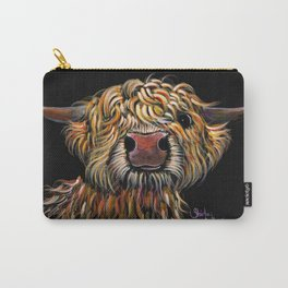 Scottish Highland Cow ' POPEYE ' by Shirley MacArthur Carry-All Pouch