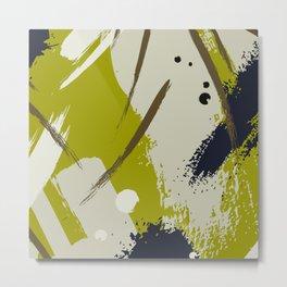 Khaki brush Metal Print
