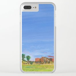 Tractors at Sunset Clear iPhone Case