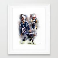 patriots Framed Art Prints featuring patriots nation by Ericsmithart