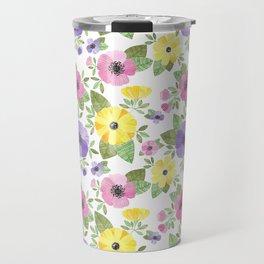 Spring Bouquet Watercolor Travel Mug