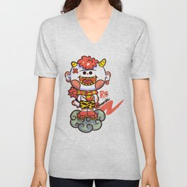 Red Oni Unisex V-Neck