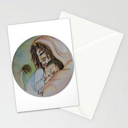 Painting of Lord Hanuman with Maa Anjani/Painting of Monkey King / Original painting of Amrita Gupta Stationery Cards