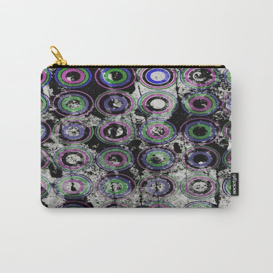 Urban Rings Pattern III - Textured Abstract Carry-All Pouch