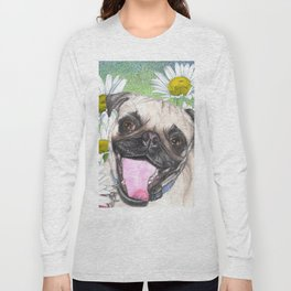Daisy The Happy Pug Long Sleeve T-shirt