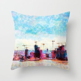 London in Motion Throw Pillow