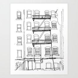 Brooklyn Alley Art Print