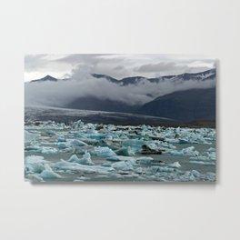 Floating icebergs in lake Jokulsarlon Metal Print