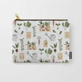 Botanical Gardening Pattern Pots And Plants Carry-All Pouch