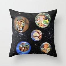 Modern Housewives Throw Pillow