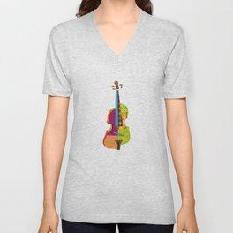 A colorful violin Unisex V-Neck