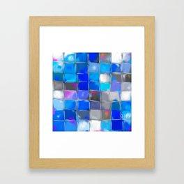 Mosaic / Abstract Art ' BLue SKieS ' BY SHiRLeY MacARTHuR Framed Art Print