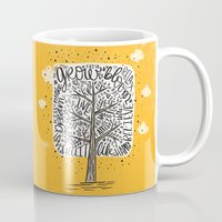 tree of life Mugs featuring Tree of Life by Matthew Taylor Wilson
