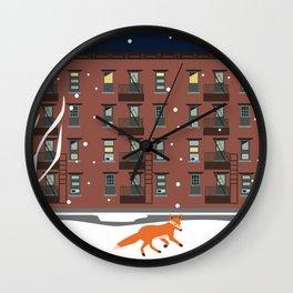 Winter in New York Wall Clock