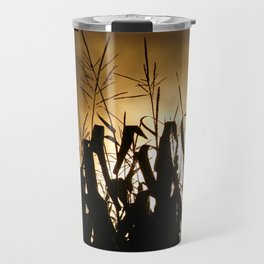 Corn field silhouettes Travel Mug