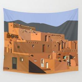Mexico Taos Pueblo Wall Tapestry