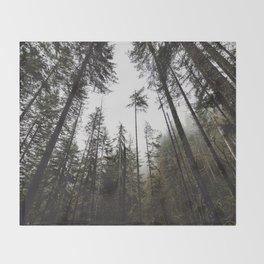 Pacific Northwest Forest Throw Blanket