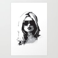kate moss Art Prints featuring Kate Moss by Joanna Theresa Heart