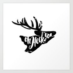 Yes Deer Art Print