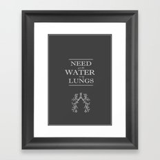 Water in my Lungs Framed Art Print