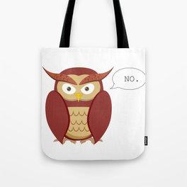 NO Owl Tote Bag