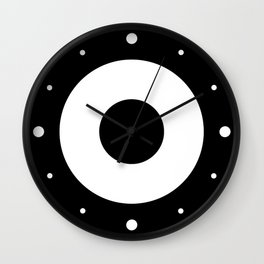 Black & White Mod Target Wall Clock