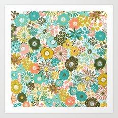February Floral Art Print