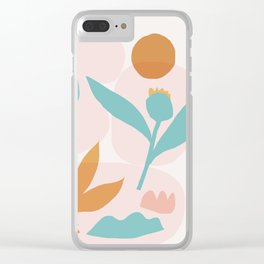 Abstraction_Floral_Minimalism_Beautiful_Day Clear iPhone Case