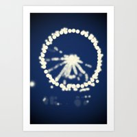 ferris wheel Art Prints featuring Ferris Wheel  by Lauren Lee Design's