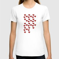 8 bit T-shirts featuring 8 BIT HEART by Bianca Lopomo