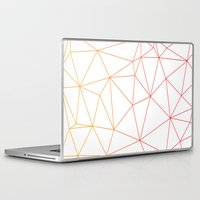 polygon Laptop & iPad Skins featuring polygon by OHOO SIX
