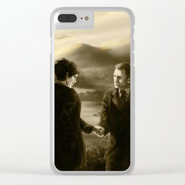 00Q Manor Sepia Clear iPhone Case