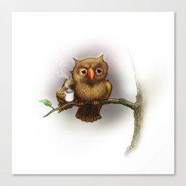Caffeinated Owl Canvas Print