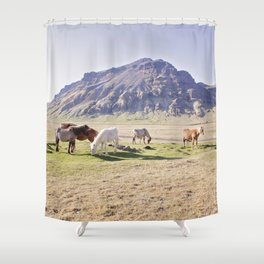 Colorful Horse Photograph Shower Curtain