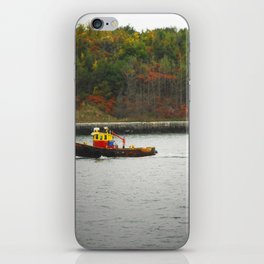 Boat Passing Light House iPhone Skin
