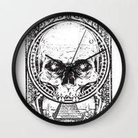 illuminati Wall Clocks featuring Illuminati by Tshirt-Factory